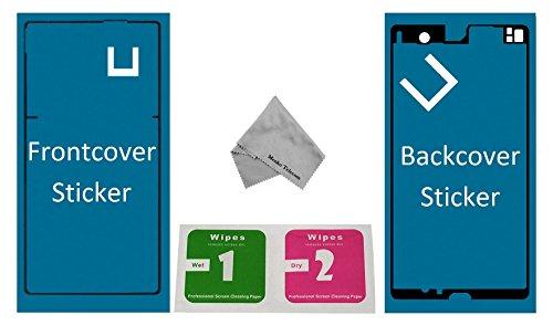 MMOBIEL Set de 2 Etiquetas/Folios Adhesivos Delantero y Trasero Compatible con Sony Xperia Z Resistentes al Agua Impermeables para la Pantalla Delantera y Tapa Trasera de la batería