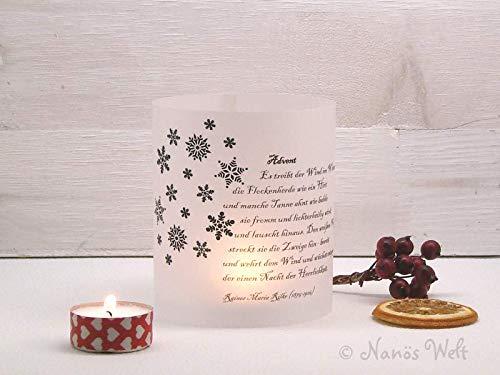 Papierlicht Advent mit Gedicht Rilke