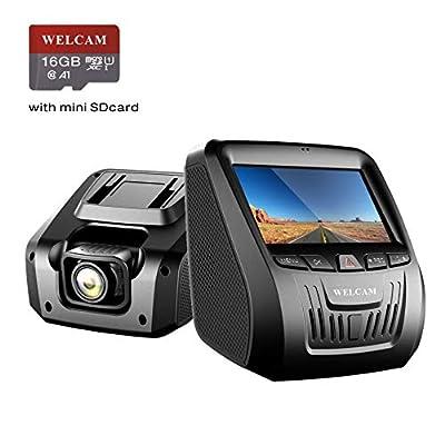 Welcam Car Dash Cam, Dashboard Onboard Camera C...