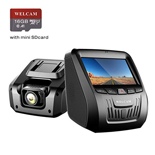 Welcam Car Dash Cam, Dashboard Onboard Camera Camcorder Driving Video Recorder Full 1080P Starlight Night Vision