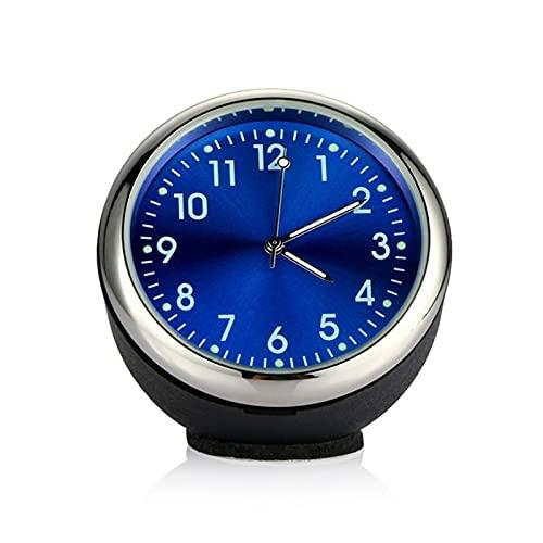 Adorno de Reloj de automóviles Automóviles Decoración Automóviles Interior Tablero de Instrumentos Tiempo Pantalla Digital Puntero Reloj Accesorios para automóviles (Color Name : Blue)