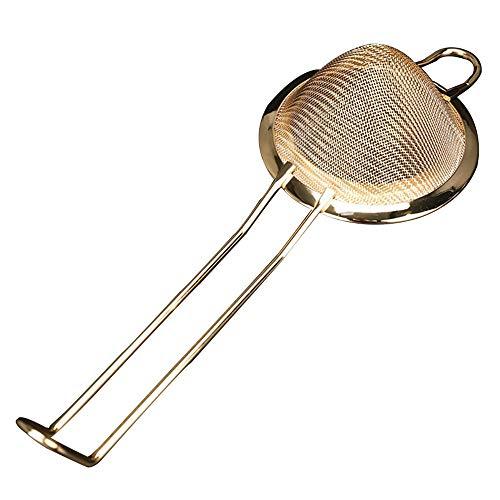 MEROURII Edelstahl Siebe Lebensmittel Siebe Teesieb Küchensieb Siebfilter für Bartending Fruchtsaft (Gold)