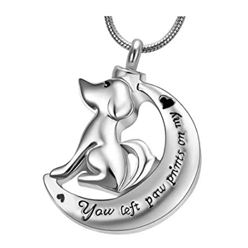 Wxcvz Collar para Cenizas Collar De Mujer De Urna De Cremación De Acero Inoxidable con Estampado De Amor Grabado, Joyería De Cremación En Collares Pendientes Accesssaries