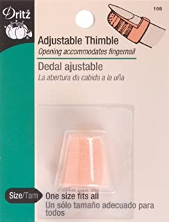 Dritz 166 Adjustable Thimble, One Size Fits All