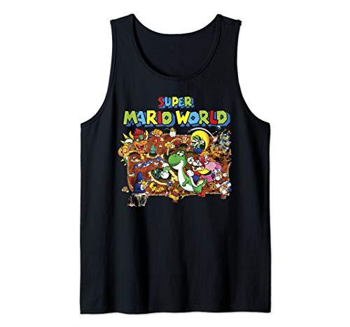 Super Mario World Retro Map Tank Top
