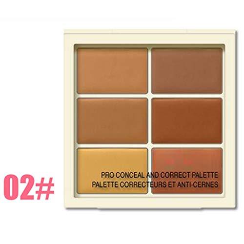 Outil de maquillage palette de 6 couleurs Conceler Palette Contour de la couleur correcteur de couleur (Color : 02# - for skin color)