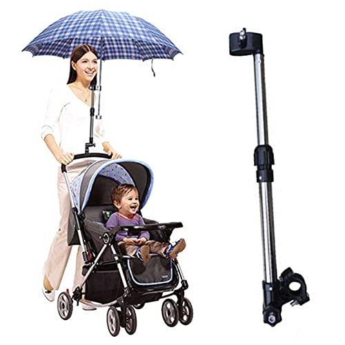 Ducomi Kinge - Soporte universal para paraguas para cochecito de bebé, conector para paraguas ajustable y extensible, para cochecito y bicicleta – Accesorio parasol para lluvia
