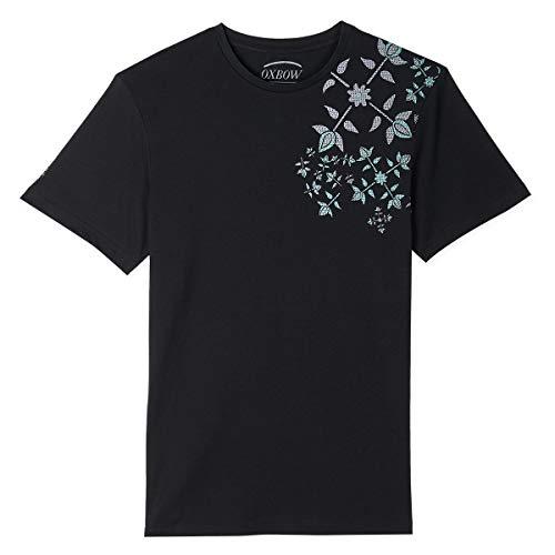 Oxbow N1TASTA Tee shirt manches courtes graphique Homme, Noir, M