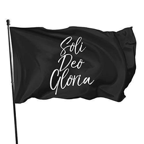 N/ Soli Deo Gloria T-Shirt Glory To God Alone Bold Christian Tee Flagge 7,6 x 12,7 cm Banner Flaggen