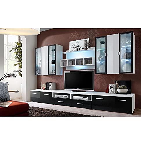 Ensemble TV - 4 éléments - Blanc et noir