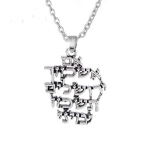 n a Colgante de Alfabeto judío Israel Talismán Amuleto Retro Vintage Collares Colgantes