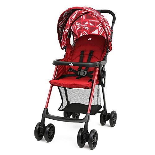 Piezas mecánicas El carrito para niños puede sentarse reclinable plegable en las cuatro ruedas Paraguas ligero de verano para bebés Paraguas ligero plegable con una mano Amortiguador de cuatro rued