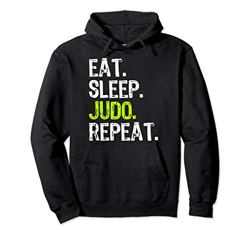Eat Sleep Judo Repeat Funny Cool Lover Gift Pullover Hoodie