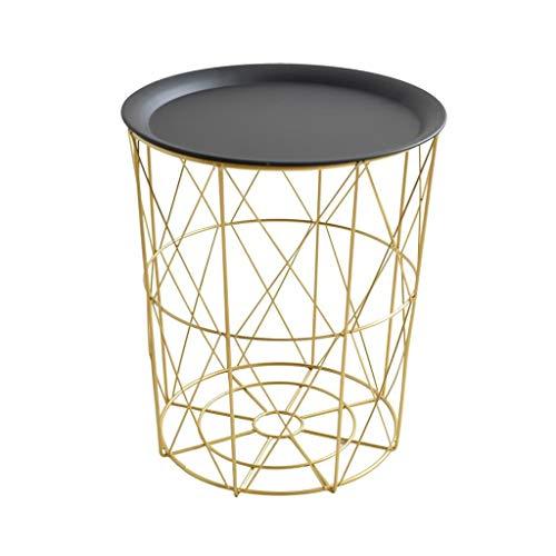 LIYG Nordic Estilo Creativo Moderno Minimalista Hierro Forjado Almacenamiento pequeña Cesta Mesa de café Inicio Sala de Estar Decoración Sofá de la Esquina A Few (Size : 35 * 35 * 40cm)