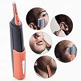 Micro precisión de la ceja del Oído, Nariz Trimmer Remoción Unisex Personal eléctrico Facial Trimer de Pelo con luz LED