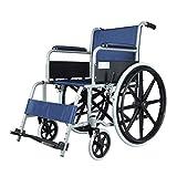 ZXL@ED Rollstuhl, Leichtklappselbstfahrer Sitz In Blau Antrieb Devilbiss Healthcare Armlehne -
