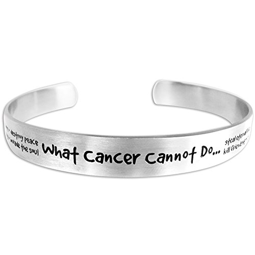 Lolo Jewelry What Cancer Cannot Do Womens Cuff Bracelet