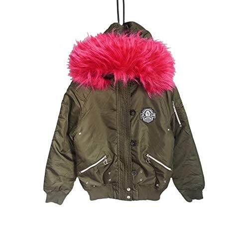 AOLIGEI Women'S Down Jacket, korte winddichte katoenen jas dames winterjas met bont kraag, geschikt voor koud weer.