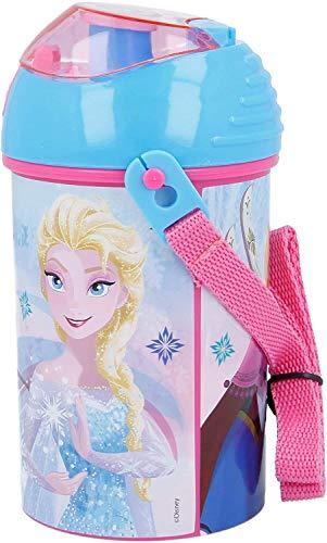 CM Botella DE Agua DE 450ML PLASTICA Libre DE BPA Boquilla DE Silicona (Celeste)