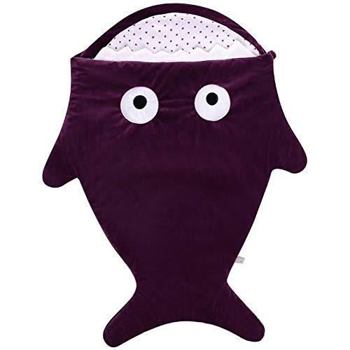 ASDFGH Sac de Couchage Cartoon Anti-Kick d'automne et d'hiver Baby Go Out étreignant Bébé Cadeau créatif Sac de Couchage for bébé (Color : Purple)