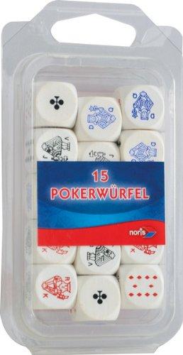 Noris 606151045 - houten pokerblokjes, 16 mm