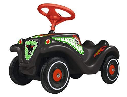 BIG-Bobby-Car Classic Crazy - Kinderfahrzeug mit Aufklebern für Jungen und Mädchen, belastbar bis zu 50 kg, Rutschfahrzeug für Kinder ab 1 Jahr, schwarz
