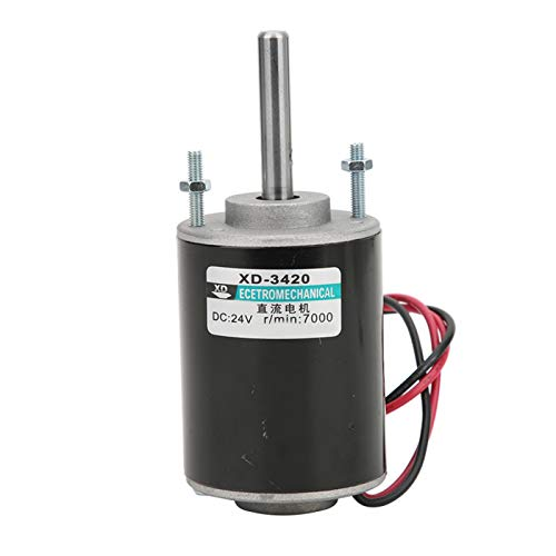 Motores de imán permanente, 12 / 24V 30W Motor eléctrico de CC de imán permanente de alta velocidad CW/CCW, súper suave, casi sin ruido, seguro de usar.((24 V 7000 RPM))