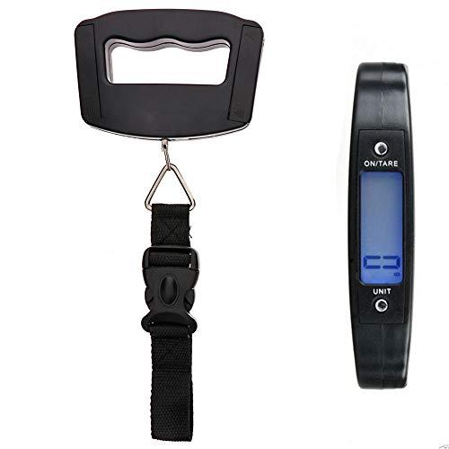 KeyZone Kleine Digitale Gepäckwaage, LCD Kofferwaage, Reise Digitale Hängende Waage Fischwaage, Mini Tragbare Hängewaage