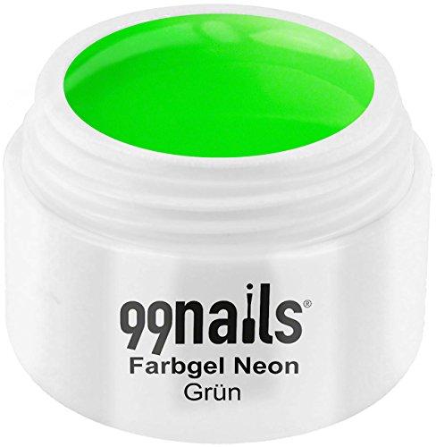 99 Nails® Farbgel – Vert Fluo, 1er Pack (1 x 5 ml)