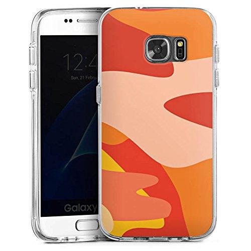 DeinDesign Samsung Galaxy S7 Bumper Hülle Bumper Case Schutzhülle Camouflage Bundeswehr Orange