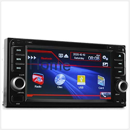 TUNEZ® Doppel Din Auto Stereo 6.5 Zoll Kompatibel Mit Avensis Verso Celica Estima Hiace Hilux Land Cruiser Autoradio Unterstützung Bluetooth USB/FM / MP3 / MP4 / DVD/CD-Player Haupteinheit