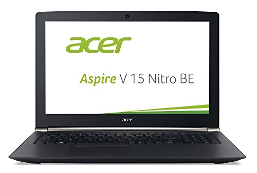 Acer Aspire V 15 Nitro - Black Editon (VN7-592G-74H8) 39,6 cm (15,6 Zoll Full HD IPS) Laptop (Intel Core i7-6700HQ, 8GB DDR4-RAM, 256GB SSD + 1TB HDD, NVIDIA GeForce GTX 960M, Win 10 Home) schwarz