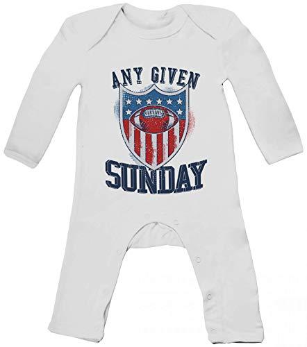 American Football Gruppen Fan Baby Strampler Langarm Schlafanzug Jungen Mädchen Any Given Sunday 3, Größe: 3-6 Monate,White