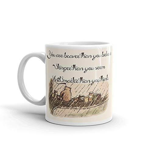 You Are Braver Than You Believe (version 1) Mug 11 Oz White Ceramic