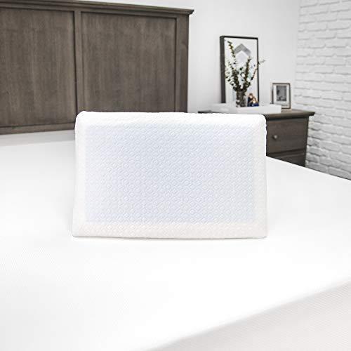 SensorPEDIC Gel Overlay Memory Foam Pillow, Standard, White