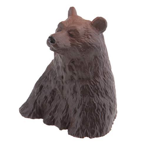 Fenteer Figurines d'animaux Décorations Paysage Statues Jardin - Ours Noir