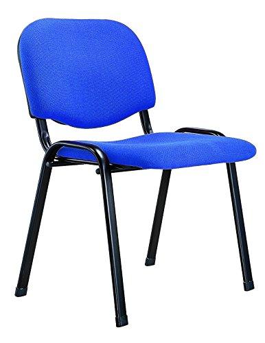 Q-Connect 932030 Chaise Empilable 4 Pieds Poids Maximum Supporté 100 kg 910 x 350 x 440 mm 5,3 kg Bleu