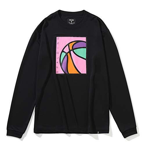 SPALDING(スポルディング) バスケットボール ロングスリーブTシャツ ネオンボール SMT201330 ブラック Sサイズ バスケ バスケット