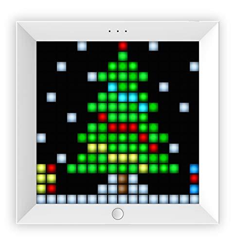 Divoom Pixoo – Marco Pixel Art 16 x 16 LED con Smart App – Color Blanco