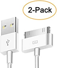 Trenro 2pcs 30 Pin USB Sync Charging Cable Cord Replacement for Old Apple iPhone 4/4S..