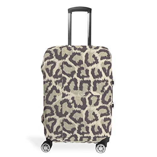 BTJC88 Leopard Grain Travel Luggage Cover - Cool Durable 4 Sizes for Most Suitcase White XL(30-32 inch)