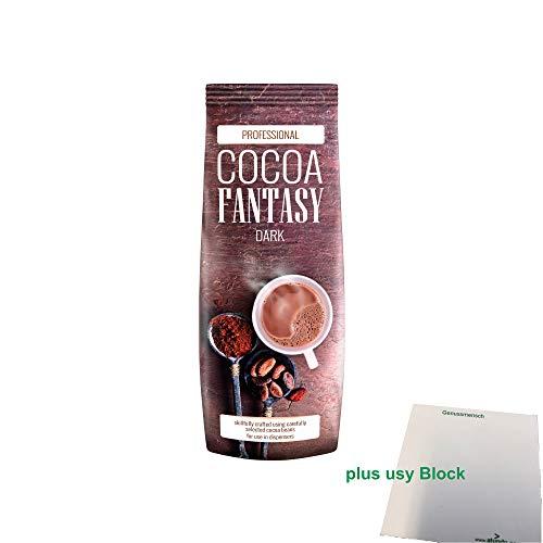 Cocoa Fantasy Dark 27% Kakao Getränkepulver (1kg) + usy Block