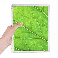 緑色植物の光は新鮮なイラストパターン 硬質プラスチックルーズリーフノートノート