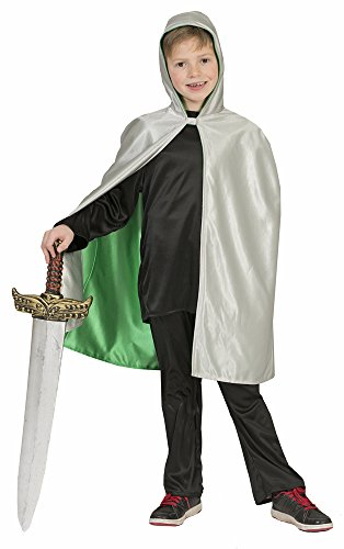 Funny Fashion Wendeumhang Ritter Drache 2 in 1 Wechselkostüm für Kinder - Ein Umhang zwei Kostüme für Karneval, Mittelalter Mottoparty, Ritterspiele