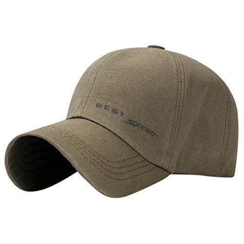 Sannysis Baseball Cap Unisex Mützen für Draussen Sport oder auf Reisen Herren Damen Golf Tennis Freizeit Kappe Einstellbare Atmungsaktives UV-Schutz Schnell Trocknende Grün