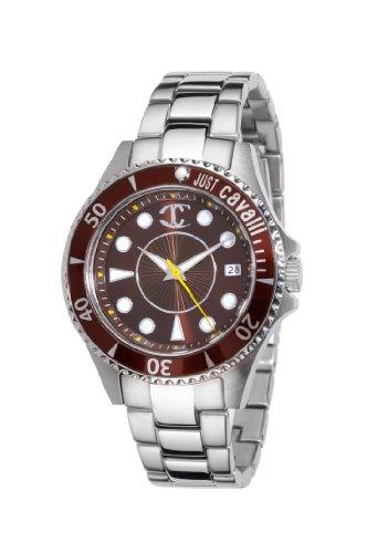 Just Cavalli R7253141055 - Reloj analógico de Cuarzo para Mujer con Correa de Acero Inoxidable, Color Plateado
