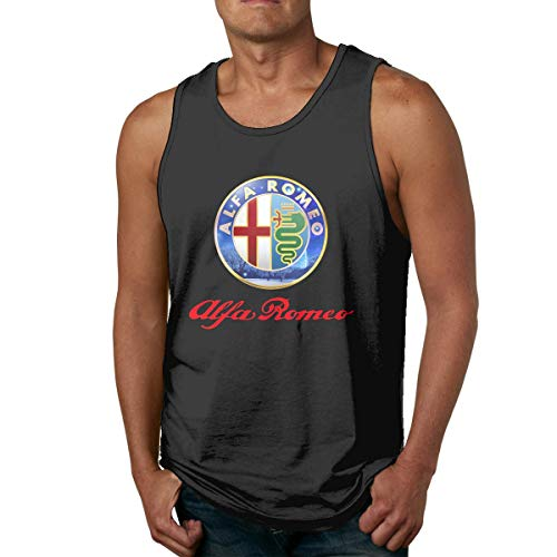 DJNGN Camiseta sin Mangas Divertida Alfa Romeo Gym para Hombre