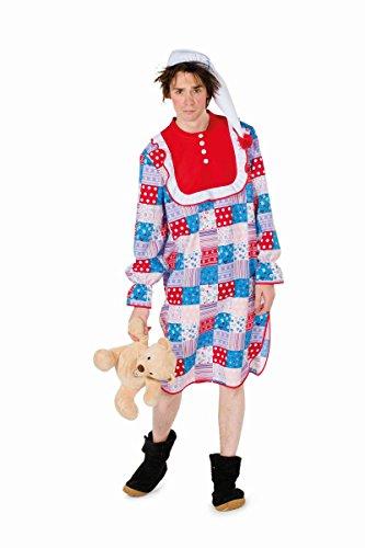 Herren Kostüm Patchwork Nachthemd Karneval Fasching Gr.58