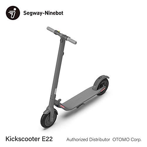 Segway-Ninebot Kickscooter E22 超軽量 航空機クラスアルミ合金 折りたたみ ハイデザイン セグウェイ ナインボット キックスクーター 50984 グレー
