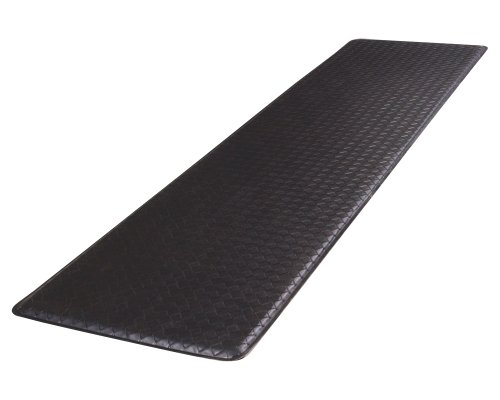 """GelPro Classic Anti-Fatigue Kitchen Comfort Chef Floor Mat, 20x72"""", Basketweave Black Stain Resistant Surface with ½"""" gel core for health & wellness"""